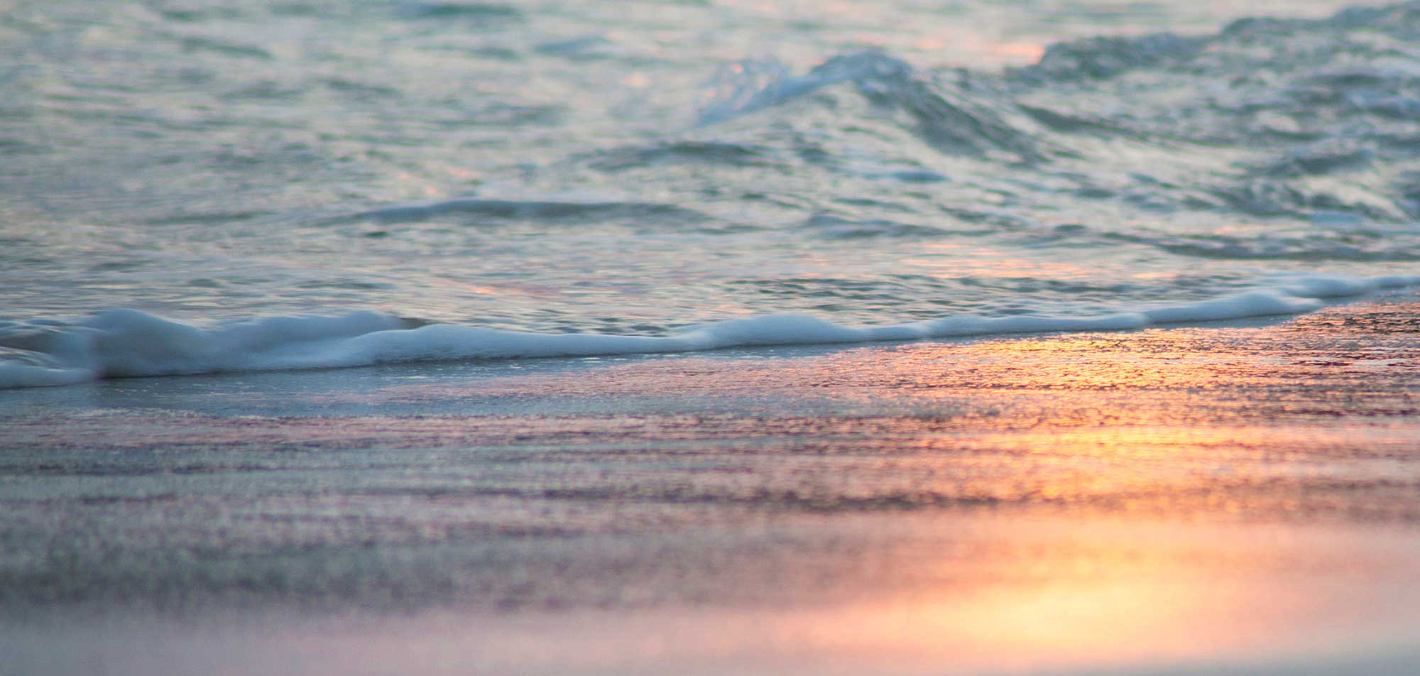 The sea at sunset image features on Mulberry house Gift Vouchers