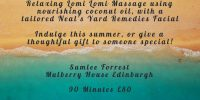 Summer Massage Package with Sumlee