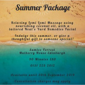Summer Massage Package with Sumlee Forrest