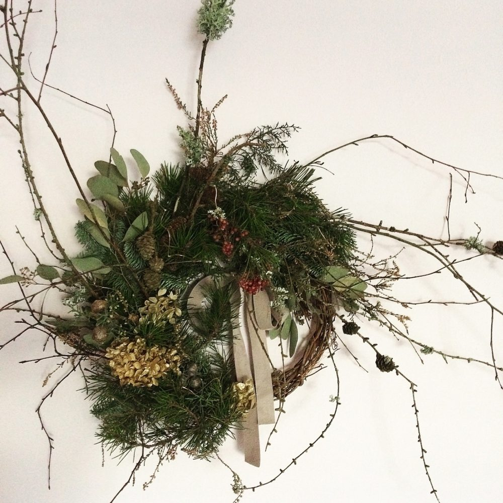 festive wreath workshop Mulberry House